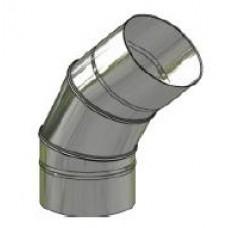 Koleno nerez regulovatelné ø160mm / 0 - 45° 3-segm