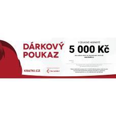 Dárkový poukaz 5000 Kč - KRATKI